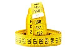 Mesure avec la mesure de bande Image stock