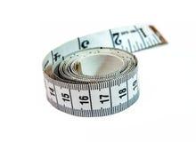 mesure blanc noir de bande d'isolement Photo stock
