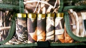 12 mesure, cartouchière et munitions photo stock