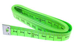 Mesure de bande verte sur le fond blanc Photo stock
