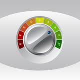 Mesure de classe d'énergie avec le bouton rotateable Photo libre de droits