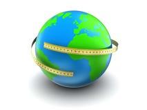 Mesure de la terre Images stock