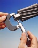 Mesure de précision mécanique Images libres de droits