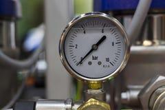 Mesure de pression d'huile d'indicateur de pression Photos libres de droits