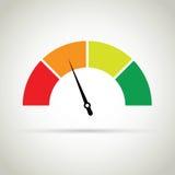 Mesure de score de crédit illustration stock