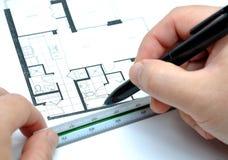 Mesure de votre maison neuve Images libres de droits