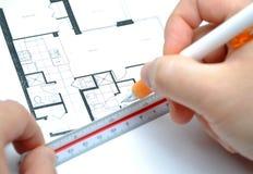 Mesure de votre maison neuve Photos libres de droits