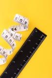 Mesure et grille de tabulation de bande Photos libres de droits