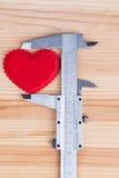 Mesure la taille du coeur Photographie stock libre de droits