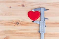 Mesure la taille du coeur Images libres de droits