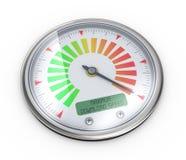 mesure maximum de mètre de vitesse du téléchargement 3d Photo libre de droits