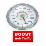 mesure sociale du media 3d Image libre de droits