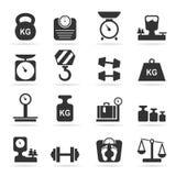 Mesure une icône Images stock