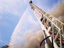 Mesurer-Rue Andrews 4-28-08 d'incendie Photographie stock