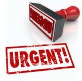 Mesures d'urgence immédiates de Word de timbre urgent requises Image stock