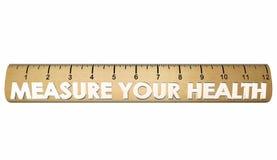 Mesurez votre règle de forme physique de bien-être de santé illustration de vecteur