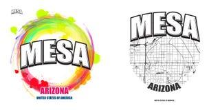 Mesy, Arizona, dwa logo grafiki Obrazy Stock