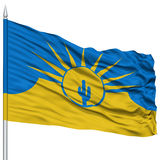 Mesy miasta flaga na Flagpole, usa Fotografia Stock
