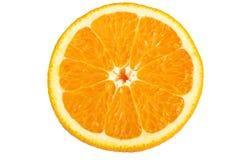 A metà arancia isolata Fotografia Stock