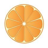 A metà arancio 02 Immagini Stock Libere da Diritti
