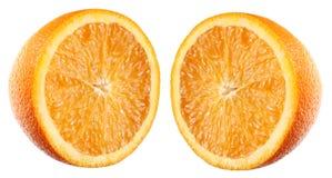 A metà arancio fotografie stock libere da diritti