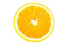 Metà arancione isolata della frutta Immagine Stock