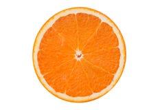 Metà arancione isolata della frutta Immagini Stock