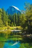 Metà-cupola del Yosemite Fotografia Stock