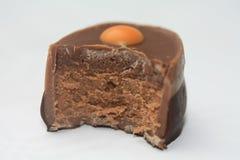 Metà del cioccolato Fotografia Stock