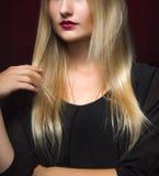 Metà del fronte della femmina di bellezza Bei zigomi Fotografie Stock