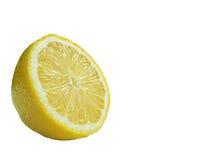 Metà del limone fresco isolata su fondo bianco immagine stock libera da diritti