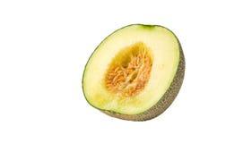 Metà del melone del Giappone isoalted Fotografia Stock Libera da Diritti