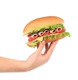 Metà del panino francese delle baguette a disposizione. Fotografia Stock