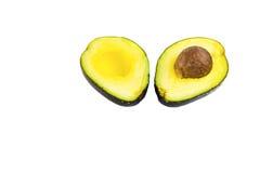 Metà dell'avocado su fondo bianco Immagini Stock Libere da Diritti