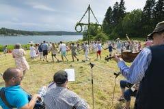 Metà dell'estate svedese tradizionale Fotografia Stock Libera da Diritti