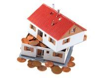 Metà della casa con i centesimi Immagini Stock Libere da Diritti