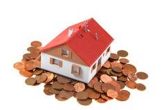Metà della casa con i centesimi Immagine Stock