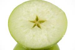 Metà della mela verde Fotografia Stock Libera da Diritti