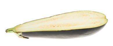 Metà della melanzana isolata Immagine Stock