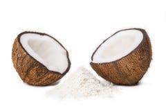 Metà della noce di cocco Fotografia Stock