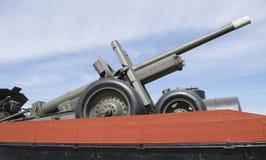 Metà della pistola dell'artiglieria prima dello XX secolo Fotografia Stock Libera da Diritti