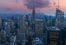 Metà di città Manhattan Fotografia Stock Libera da Diritti