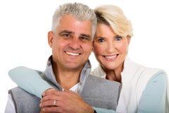Metà di coppia sposata di età Fotografie Stock
