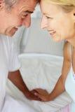 Metà di coppie di età nell'amore Fotografia Stock Libera da Diritti