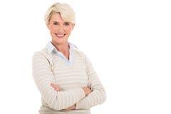 Metà di donna di età fotografie stock