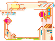 Metà di illustrazione di progettazione grafica di festival di autunno Fotografia Stock