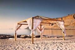 Spiaggia di Pefkos Fotografie Stock Libere da Diritti