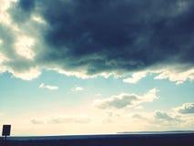 Metà di nuvola di giorno Immagine Stock Libera da Diritti