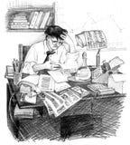 Metà di secolo 20 dell'uomo d'affari illustrazione vettoriale