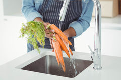 Metà di sezione delle carote di lavaggio dell'uomo Immagine Stock